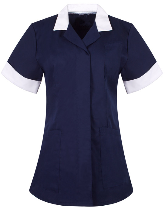 Nurse tunic Trim collar sleeve